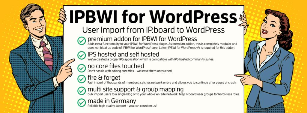 IPBWI4WP: IPS User to WordPress Import