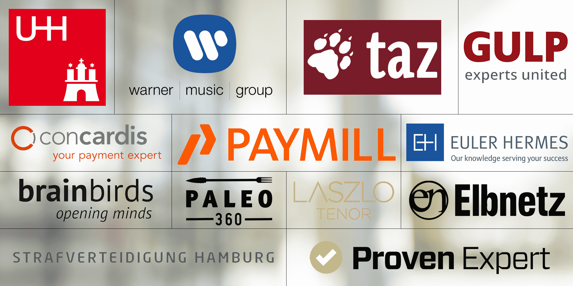 List with logos of our WordPress agency customers.